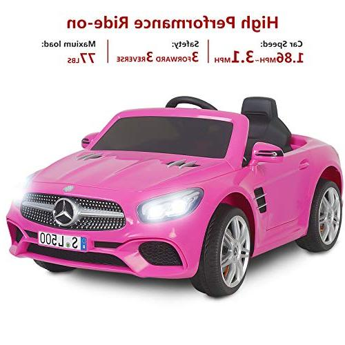 Uenjoy SL500 Kids Ride Car Single Cars Kids Control & Lock Pink