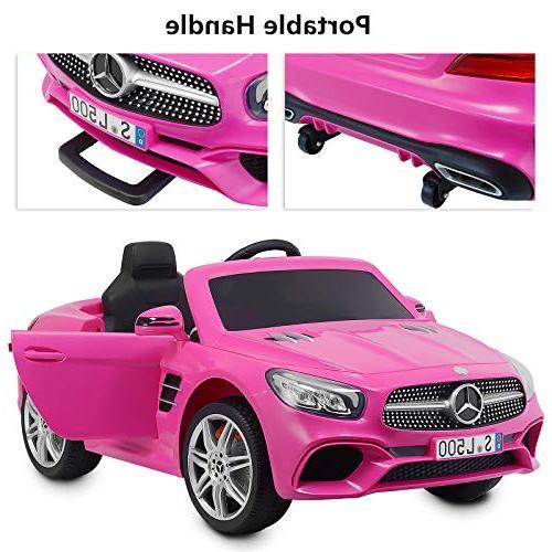 Uenjoy 12V SL500 Ride Car Seat Cars Kids w/Remote Control & Music Spring & Safety Lock