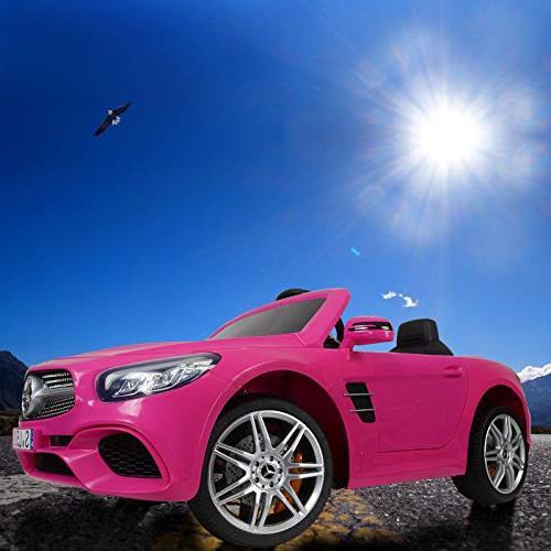 Uenjoy 12V Mercedes-Benz SL500 Kids Car Single Seat Cars for Kids Control & Spring Suspension Safety