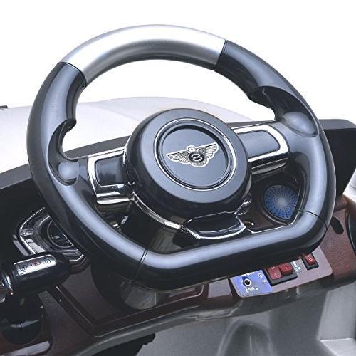 Costzon 6V Battery Vehicle, Manual/ 2.4G Parental Remote Control w/Flashing Wheel 3 Speeds, Music, Radio, Horn for Kids