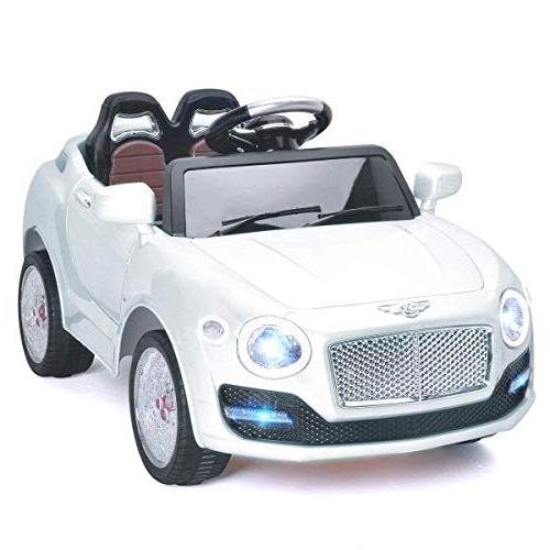 Costzon Car, 6V Manual/ 2.4G Remote Control Car Wheel Swing 3 Bluetooth, Music, Kids