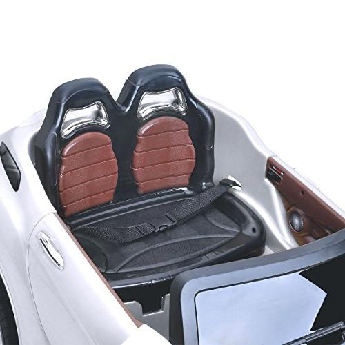 Costzon Car, 6V Manual/ Control w/Flashing Wheel Lights, Swing 3 Bluetooth, Music, Radio, Kids