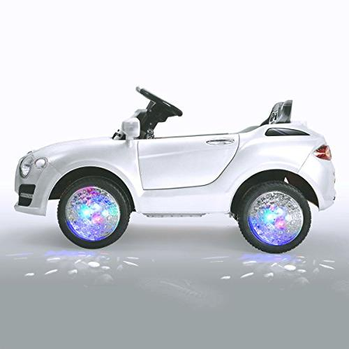 Costzon 6V Battery Manual/ Parental Control Modes Car w/Flashing Wheel 3 Speeds, Bluetooth, Music, Kids