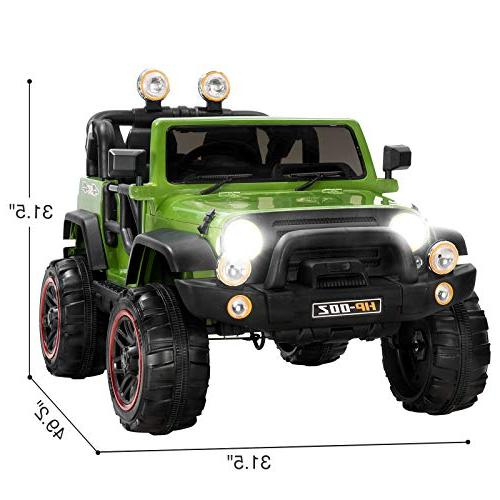Uenjoy Ride on Cars 12V Children's Electric Motorized with Remote Control, Speeds, Head Lights, HP-002,