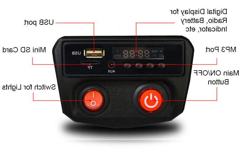 Jeep Car Remote Control Lights mp3 AUX and Black