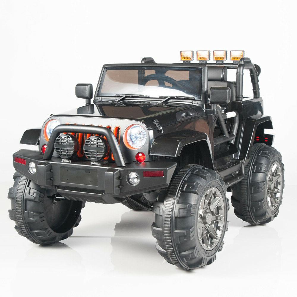 12V Kids Ride on Jeep Truck Car RC Remote Control Lights mp3