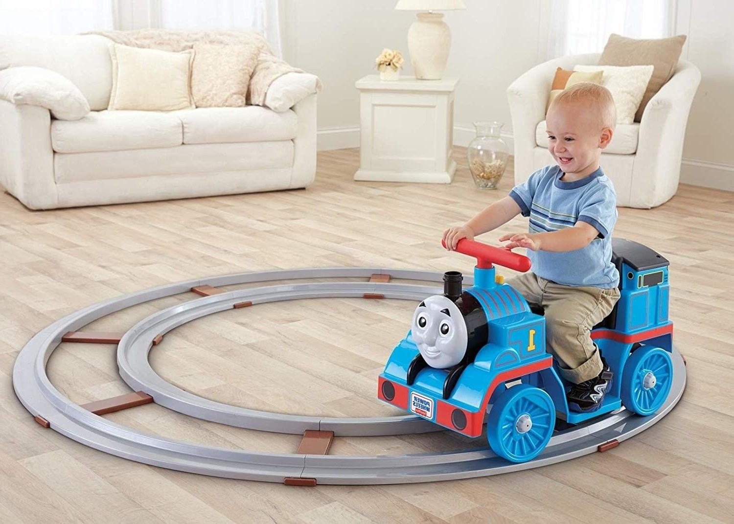 ride on train with track battery powered
