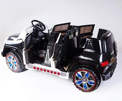 Ride On Police Power Battery Kids Led Mp3 Music, Led Wheels, 2 Seats, Control with - New