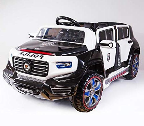 Ride On Police Car Power 12 Battery Cars Kids Mp3 Led Wheels, Openable 4 Doors, 2 Remote New 2019
