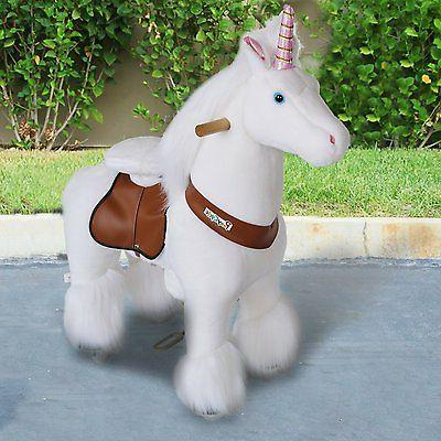 PonyCycle Official PonyCycle Ride On Unicorn No Battery No E