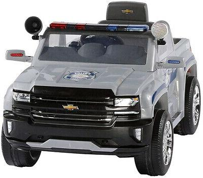 Rollplay 6 Chevy Silverado Police Ride On Battery-Powered