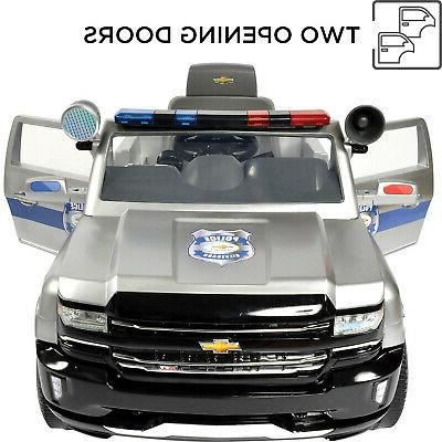 Rollplay 6 Chevy Silverado Police Ride On Toy,