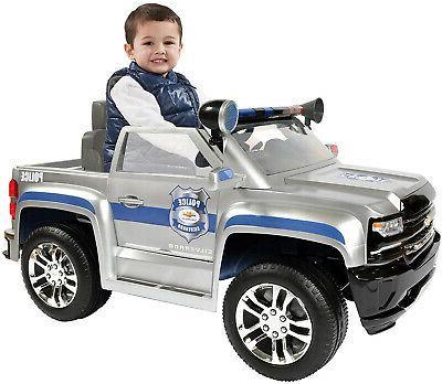 rollplay 6 volt chevy silverado police truck