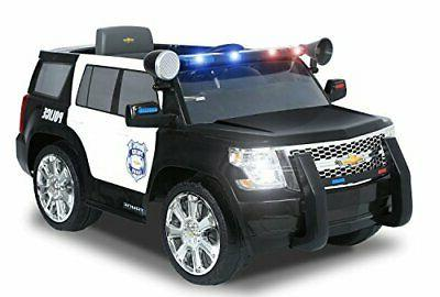 Rollplay 6 Volt Chevy Tahoe Police SUV Ride On Toy, Battery-