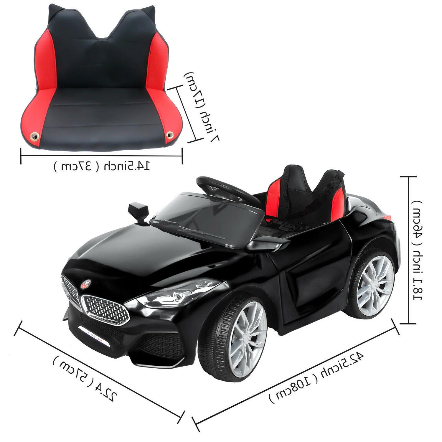 Safety Ride Car Battery Power Wheels Music Remote Control