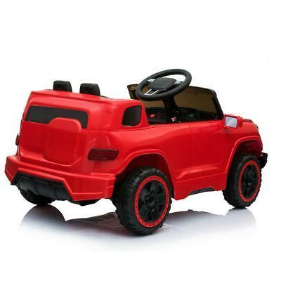 Safety Kids Car Toys 4 Wheel Remote Control Red