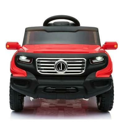 Safety on Car Electric Power 4 Wheel MP3 Remote Control Red
