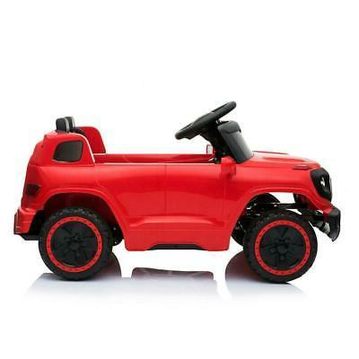 Safety Kids Car Toys 4 Wheel MP3 Light Remote Control Red