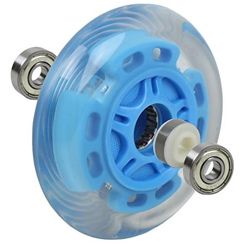 LED SCOOTER WHEELS BEARINGS for SCOOTERS 100mm Blue 2-pack