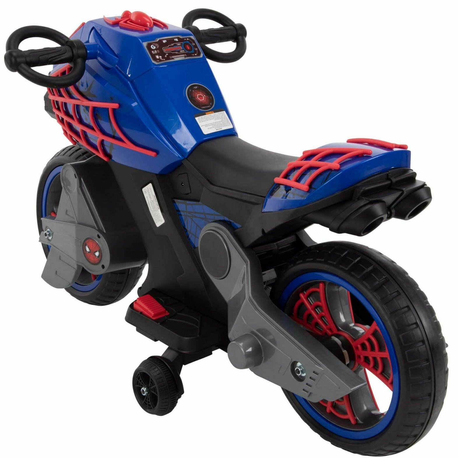 Spiderman Ride On Wheels For Motorcycle Kids Battery New