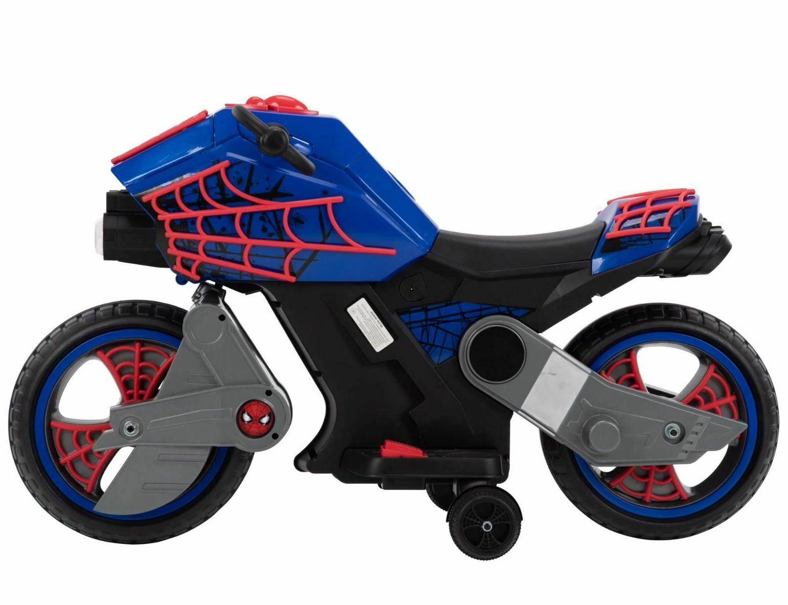 Spiderman Ride On Wheels Boys Toy Motorcycle Kids 6 Battery