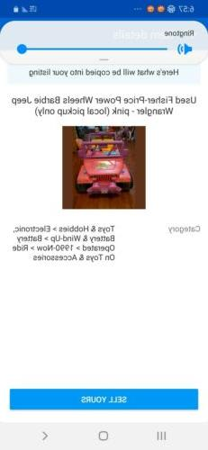 Used Fisher-Price Power Wheels Barbie Jeep Wrangler - pink
