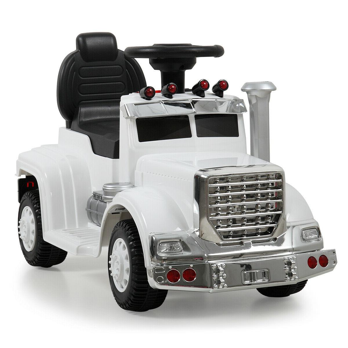 White Ride Car Electric Power MP3 Toy