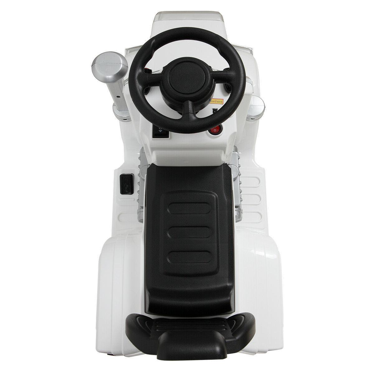 White Ride Car MP3 Light Toy