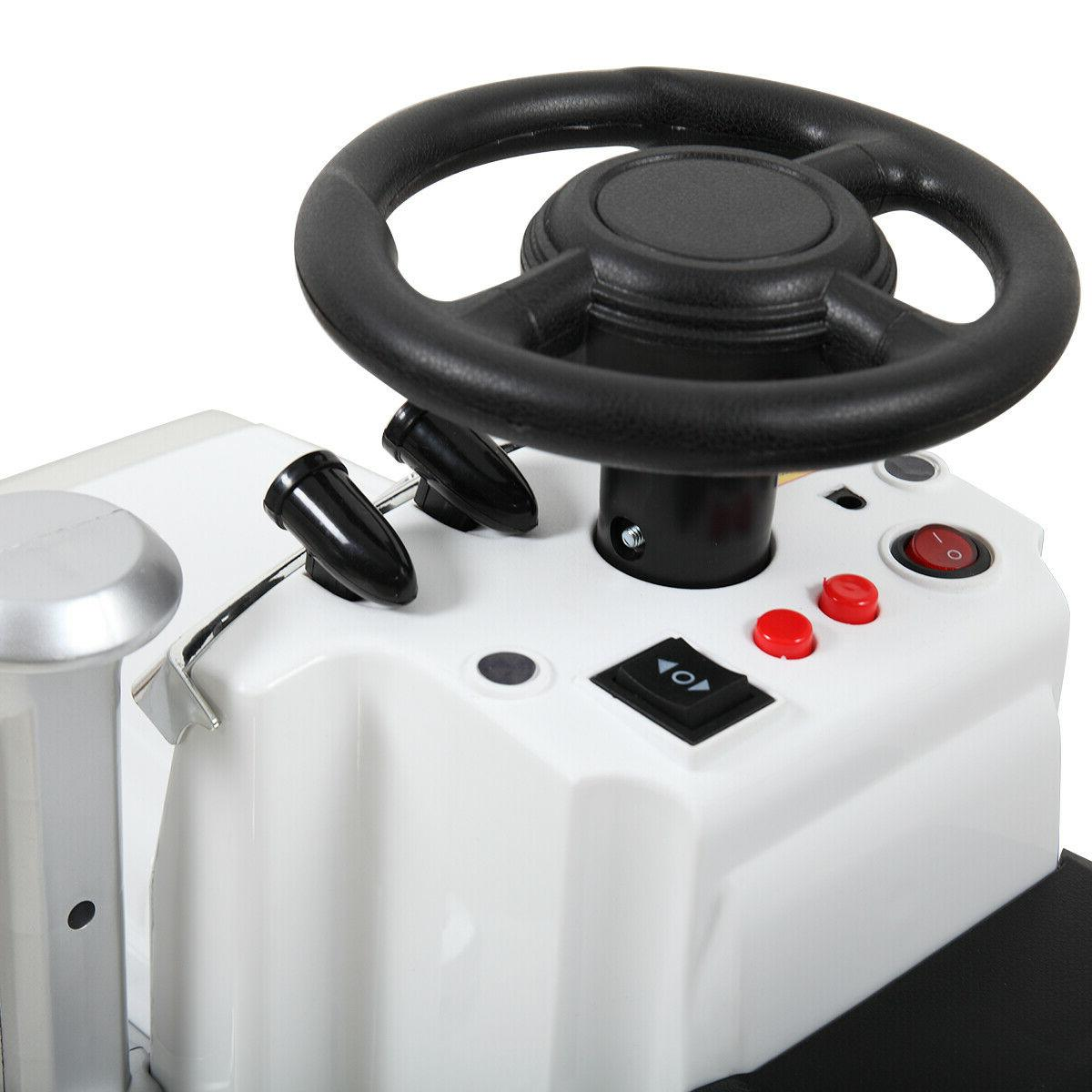 White Car Electric Wheels MP3 Light