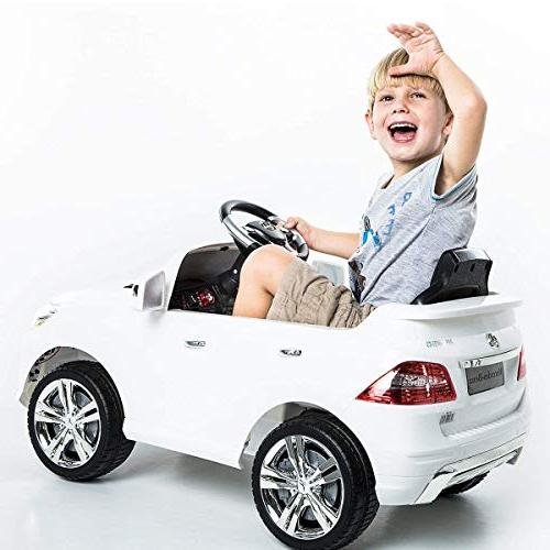 Costzon White Mercedes ML350 Ride Car MP3