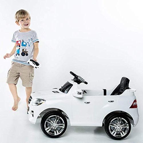 Costzon White Mercedes Benz ML350 6V Ride MP3
