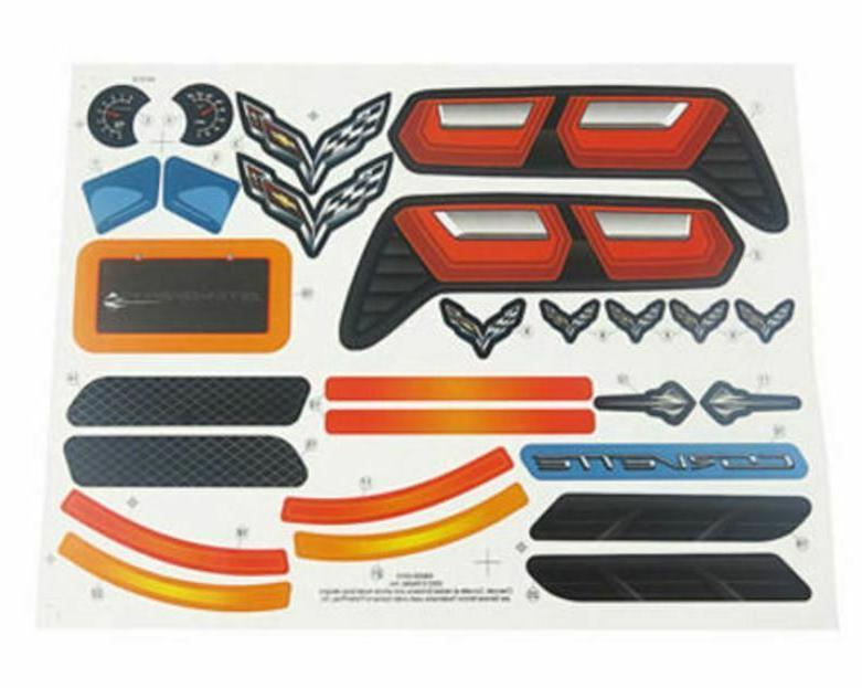 x6639 corvette label decal sheet fisher price