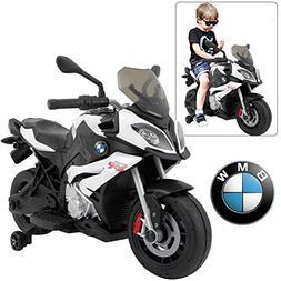 Licensed 12V Ride on Motorcycle for Kids BMW S1000 XR - Whit
