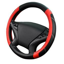 CAR PASS Line Rider Leather Universal Steering Wheel Cover f