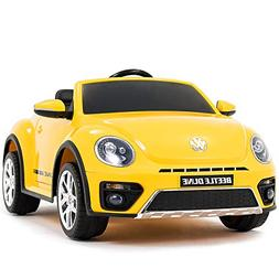 Uenjoy 12V Ride on Cars Lovely VW Beetle Kid's Electric Cars