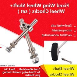 M4 M5 Steel <font><b>Wheel</b></font> Axle Fixed Wing Landin