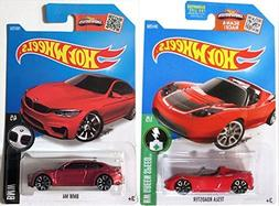 BMW M4 & Tesla Model Roadster Hot Wheels #241 Convertible &