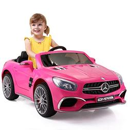 JAXPETY Mercedes Benz 12V Electric Kids Ride On Car Licensed