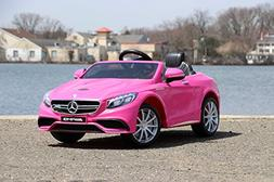 First Drive Mercedes Benz S63 Pink 12v Kids Cars - Dual Moto