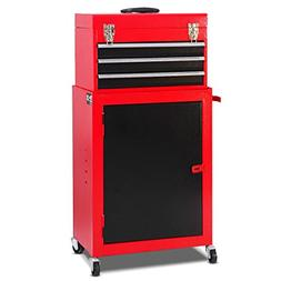 Giantex 2pc Mini Tool Chest & Cabinet Storage Tool Box Rolli