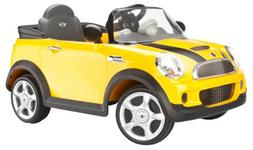 Kid Trax Mini Cooper 6V Ride-On Car, Yellow