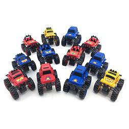 Boley 12 Pack Wild Wheels - Mini Pull Back Motorized Revving