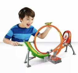 Hot Wheels Motorized Loop Jump Power Shift Raceway Track Set