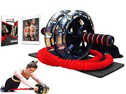 INTENT SPORTS Multi Functional Ab Wheel Roller KIT with Resi