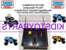NEW! 24v Battery LONGER RUN Kit for Grave Digger Power Wheel
