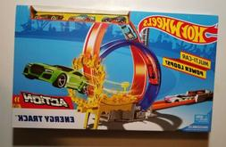 New Hot Wheels Action Energy Track Double Power Loops Track