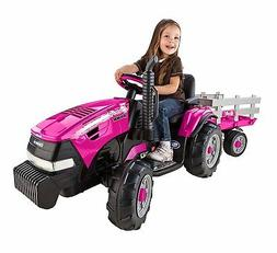 NEW Peg Perego Case IH Magnum Tractor/Trailer Girls Ride On