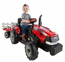 NEW Peg Perego Case IH Magnum Tractor/Trailer Ride Toy Girls
