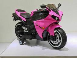NEW LED 12V MOTORCYCLE KIDS RIDE ON ELECTRIC SPORTS BIKE GIR