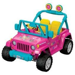 New NIB Fisher Price Power Wheels Barbie Jeep Wrangler 12V B